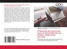 Capa do livro de Propuesta de ejercicios para el desarrollo de los textos coloquiales escritos