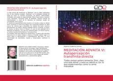 Bookcover of MEDITACIÓN ADVAITA VI: Autopercepción transfinita directa