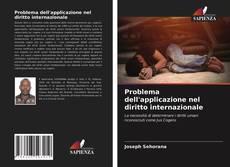 Capa do livro de Problema dell'applicazione nel diritto internazionale
