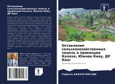 Bookcover of СЕЛЬСКОХОЗЯЙСТВЕННЫЕ УГОДИЯ В ПРОВИНЦИИ КАЛЕХЕ ЮЖНОГО КИВУ, ДРК
