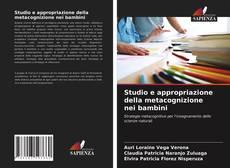 Couverture de Studio e appropriazione della metacognizione nei bambini
