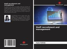 Bookcover of Staff recruitment and management