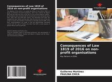 Consequences of Law 1819 of 2016 on non-profit organisations的封面