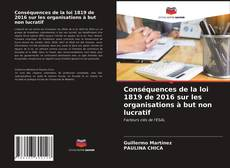 Buchcover von Conséquences de la loi 1819 de 2016 sur les organisations à but non lucratif