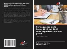 Buchcover von Conseguenze della legge 1819 del 2016 sulle organizzazioni non profit