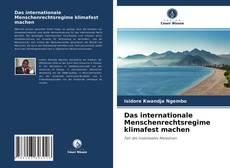Capa do livro de Das internationale Menschenrechtsregime klimafest machen