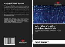 Bookcover of Activities of public relations specialists
