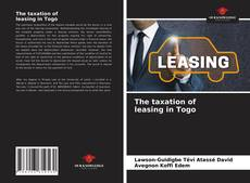 Обложка The taxation of leasing in Togo