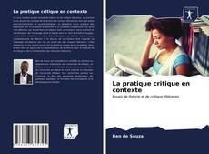 Portada del libro de La pratique critique en contexte