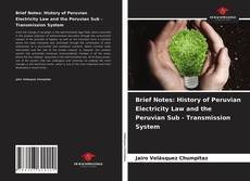 Bookcover of Brief Notes: History of Peruvian Electricity Law and the Peruvian Sub - Transmission System