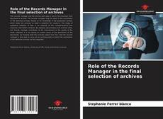 Buchcover von Role of the Records Manager in the final selection of archives