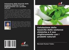 Capa do livro de Valutazione della tossicità delle sostanze chimiche e il suo miglioramento con i prodotti naturali