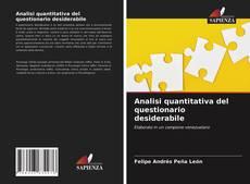 Couverture de Analisi quantitativa del questionario desiderabile
