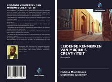 Buchcover von LEIDENDE KENMERKEN VAN MUQIMI'S CREATIVITEIT