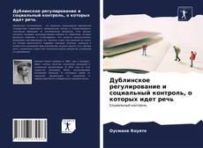 Bookcover of Дублинское регулирование и социальный контроль, о которых идет речь