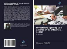 Bookcover of Investeringsgedrag van actoren in de informele sector