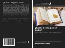 Portada del libro de ¿Realismo mágico en África?