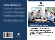 Buchcover von Erreichen Sie die nach dem Behindertengesetz von 2005 vorgeschriebene Quote von 6%