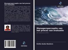 Bookcover of Managersperceptie van het proces van evaluatie