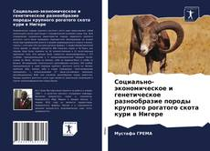 Bookcover of Социально-экономическое и генетическое разнообразие породы крупного рогатого скота кури в Нигере
