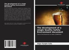 Bookcover of The development of a single Quality Safety Environment document