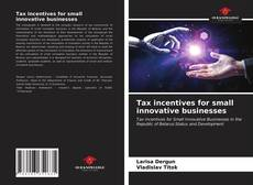 Buchcover von Tax incentives for small innovative businesses