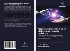 Bookcover of Fiscale stimulansen voor kleine innoverende bedrijven