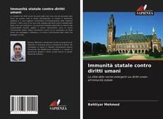 Portada del libro de Immunità statale contro diritti umani