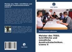 Meister des TEEO. Schriftliche und mündliche Ausdruckstechniken. Lizenz II kitap kapağı