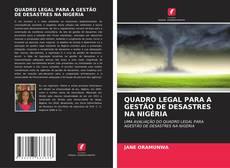 Portada del libro de QUADRO LEGAL PARA A GESTÃO DE DESASTRES NA NIGÉRIA