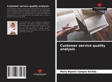 Bookcover of Customer service quality analysis