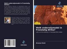 Bookcover of Welk onderwijsmodel in Franstalig Afrika?