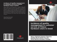 Обложка Incidence of quality management in customer service at Palace hardware store in Esteli