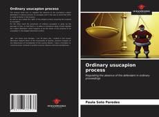 Portada del libro de Ordinary usucapion process