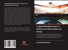 Portada del libro de L'apprentissage ouvert, à distance et électronique au Kenya