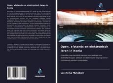Bookcover of Open, afstands en elektronisch leren in Kenia