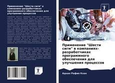 """Bookcover of Применение """"Шести сигм"""" в компаниях-разработчиках программного обеспечения для улучшения процессов"""