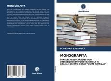 Buchcover von MONOGRAFIYA