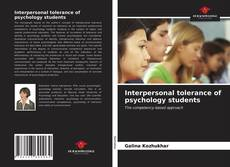 Bookcover of Interpersonal tolerance of psychology students