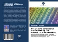 Couverture de Programme zur sozialen Verantwortung von Banken im Bildungssektor