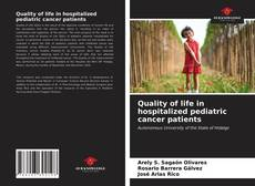 Bookcover of Quality of life in hospitalized pediatric cancer patients