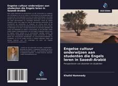 Engelse cultuur onderwijzen aan studenten die Engels leren in Saoedi-Arabië kitap kapağı