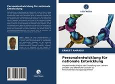Personalentwicklung für nationale Entwicklung kitap kapağı