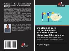 Bookcover of Valutazione delle determinanti del comportamento di risparmio delle famiglie