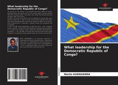 Обложка What leadership for the Democratic Republic of Congo?