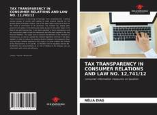 Обложка TAX TRANSPARENCY IN CONSUMER RELATIONS AND LAW NO. 12,741/12