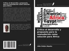 Portada del libro de Crítica al desarrollo y propuesta para la reanudación como solución para África