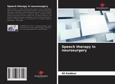 Speech therapy in neurosurgery kitap kapağı