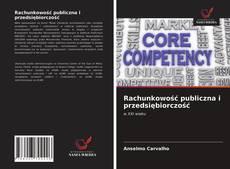 Rachunkowość publiczna i przedsiębiorczość kitap kapağı