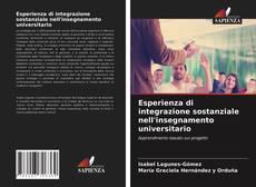 Portada del libro de Esperienza di integrazione sostanziale nell'insegnamento universitario